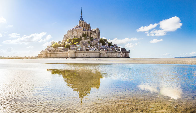 Amazing view of the Mont Saint Michel