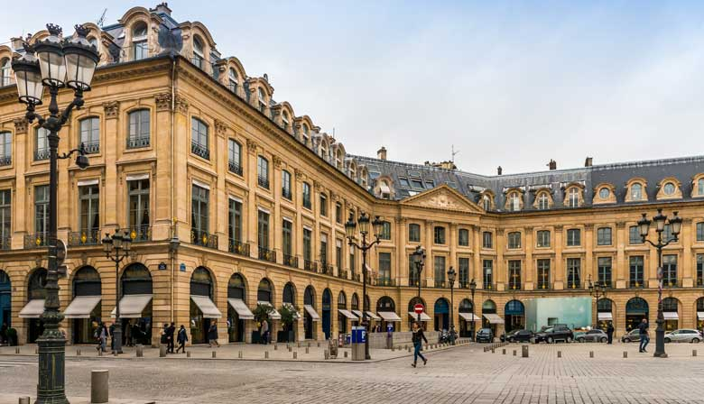Jewelery in the Place Vendome in Paris