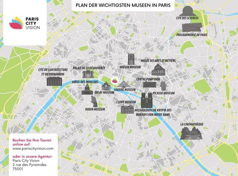 Karte Der Pariser Museen Download Plan Pariscityvision