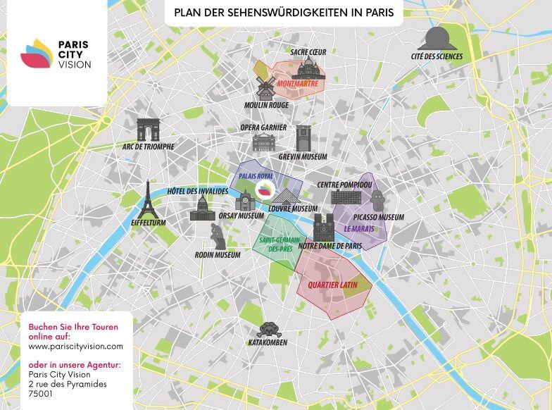 Stadtplan Paris Plan Zum Herunterladen Pariscityvision